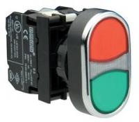 Кнопка сдвоенная красно-зеленая (1НО+1НЗ)