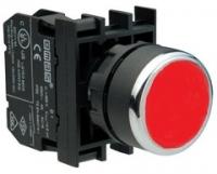 Кнопка с фиксацией, красная (1НО)