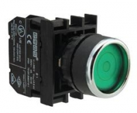 Кнопка с фиксацией, зеленая (1НО)