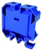 Клемма проходная 10кв мм синяя с контактом на DIN-рейку