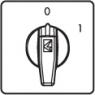 Кулачковый переключатель двухпозиционный 0-1, 1 фаза, 10А.